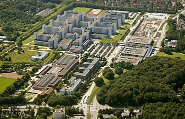 Aerial view, University of Bielefeld, Ostwestfalen-Lippe region, Westphalia, North Rhine-Westphalia, Germany, Europe