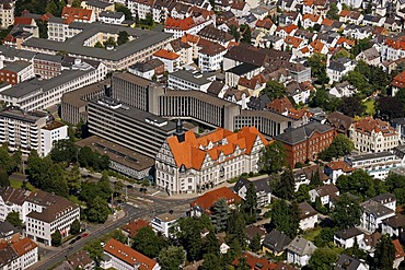 Aerial view, district court of Bielefeld, Ostwestfalen-Lippe, eastern Westphalia, North Rhine-Westphalia, Germany, Europe