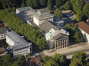 Aerial view, Landestheater Detmold building, Ostwestfalen-Lippe, eastern Westphalia, North Rhine-Westphalia, Germany, Europe
