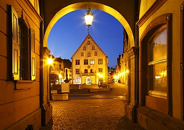 Old Town Hall on Marktplatz square, Bad Mergentheim, Tauber, Hohenlohe, bathen-Wuerttemberg, Germany, Europe