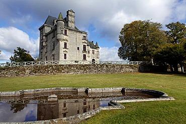 Castle of Sedieres, Clergoux, Correze, France, Europe