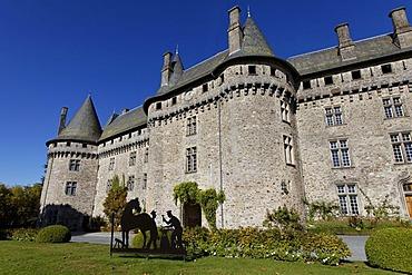 Chateau of Arnac Pompadour, Correze, France, Europe