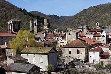 Village of Blesle, labelled Les Plus Beaux Villages de France, The most beautiful villages of France, Haute Loire, Auvergne, France, Europe
