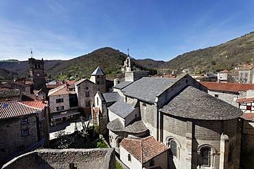 Saint Pierre church, village of Blesle, labelled Les Plus Beaux Villages de France, The most beautiful villages of France, Haute Loire, Auvergne, France, Europe