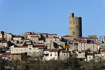 Montpeyroux village, labelled Les Plus Beaux Villages de France, The Most Beautiful Villages of France, Allier valley, Limagne Plain, Departement Puy-de-Dome, France, Europe