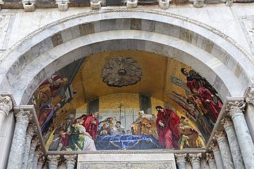 Ceiling painting, Basilica di San Marco, St Mark's Basilica, San Marco district, Piazza San Marco, St Mark's Square, Venice, UNESCO World Heritage Site, Venetia, Italy, Europe