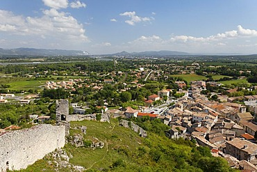 Rhone valley in Chateauneuf-du-Rhone, Drome, France, Europe