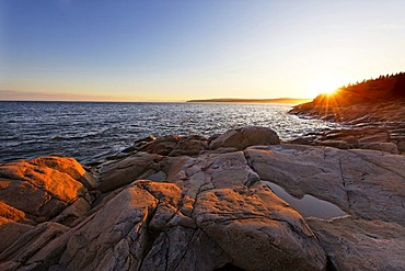 Cap Bon Desir, whale route, St. Lawrence Marine Park, Saguenay-Lac-Saint-Jean region, Quebec, Canada