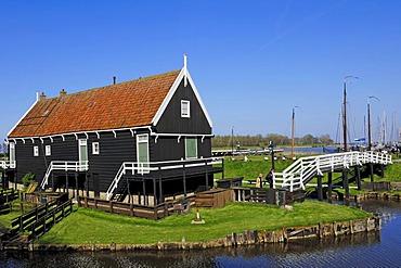 Fisherman's house at Zuiderzeemuseum, Enkhuizen, North Holland, Holland, Netherlands, Europe