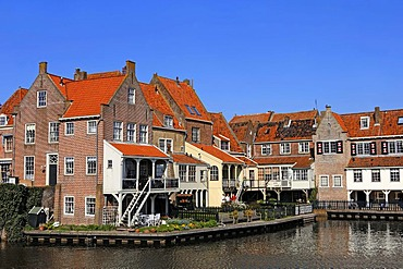 Houses in Enkhuizen, North Holland, Holland, Netherlands, Europe