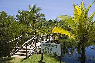 Bed and breakfast hotel in a palm grove, Big Corn Island, Caribbean Sea, Nicaragua, Central America