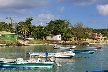 Big Bay, capital of the Caribbean island of Great Corn Island, Caribbean Sea, Nicaragua, Central America