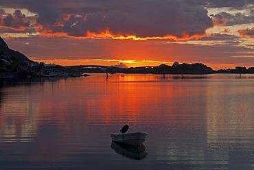 The island of Moskenesoy, Moskenesoy, Reine, Lofoten archipelago, Nordland, Norway, Europe