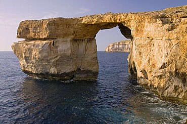 Azure Window natural arch, Saint Lawrence, San Lawrenz, west coast of Gozo, Malta, Europe