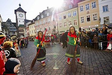 Carnival, Rose Monday procession in Freiburg im Breisgau, Black Forest, Baden-Wuerttemberg, Germany, Europe