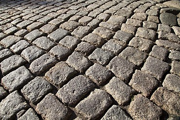 Cobblestone pavement on a street, historic district, Wernigerode, Harz mountain range, Saxony-Anhalt, Germany, Europe, PublicGround