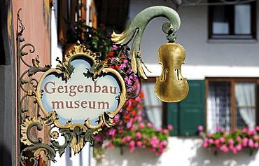 Mittenwald Violin Museum, Werdenfelser Land region, Upper Bavaria, Bavaria, Germany, Europe, PublicGround