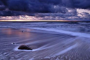 West coast of Ruegen during a storm, Mecklenburg-Western Pomerania, Germany, Europe