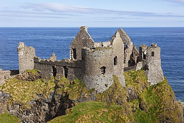 Dunluce Castle, Antrim Coast, County Antrim, Northern Ireland, Great Britain, Europe