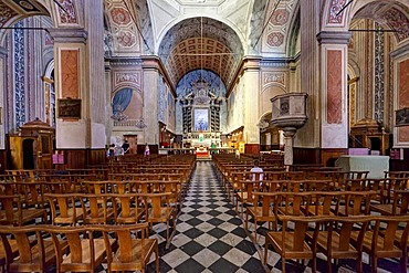 Interior view, Cathedrale-Notre-Dame-de-l'Assomption, Cathedral of Ajaccio, Ajaccio, Corsica, France, Europe