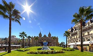 Casino and Hotel de Paris, Place du Casino, Monte Carlo, Principality of Monaco, Europe, PublicGround