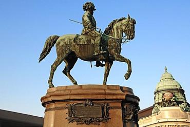 Equestrian statue of Field Marshal Archduke Albrecht, 1817-1895, Albertina, Vienna, Austria, Europe