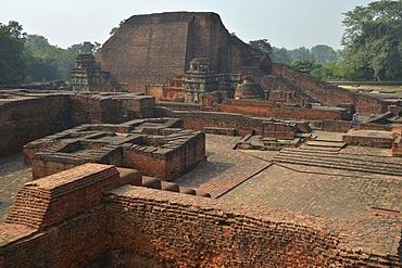 Archaeological site and an important Buddhist pilgrimage destination, ruins of the ancient university of Nalanda, Global Buddhist Congregation 2011, Ragir, Bihar, India, Asia