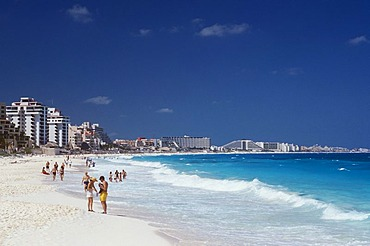 Beach, Playa Delfines, Cancun, Caribbean, Quintana Roo, Yucatan Peninsula, Mexico, North America