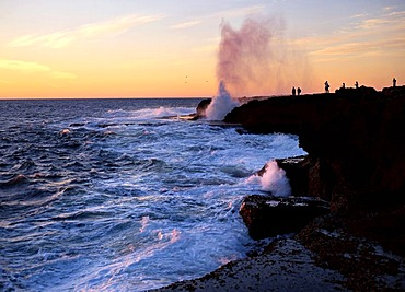 Blowhole at Sunset Point, Quobba, Northwest Australia
