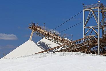 Sea salt extraction by the British-Australian mining company Rio Tinto Minerals, Port Hedland, Western Australia, Australia