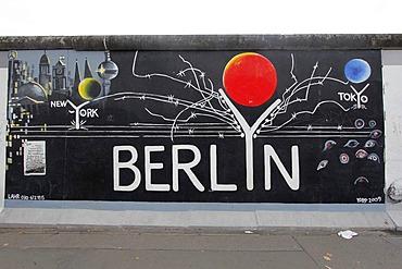 """""""Berlyn"""" by Gerhard Lahr, East Side Gallery, Berlin Wall art, Berlin, Germany, Europe"""