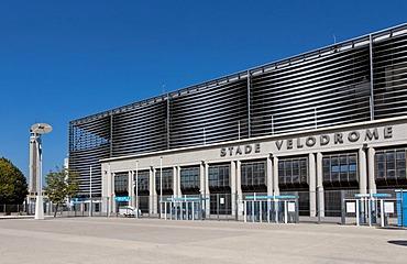 Stade Velodrome, Olympique Marseille stadium, Marseille, Marseilles, Bouche-du-Rhone, Provence, France, Europe