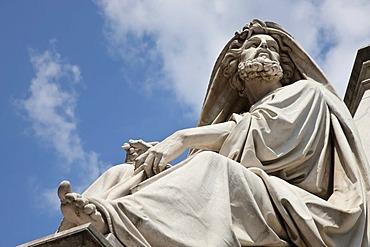 Statue at the Colonna dell'Immacolata, Piazza Spagna, Rome, Italy, Europe
