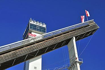 HS137 Large Hill ski jump, Schattenbergschanze ski jumping hill, Erdinger Arena, Oberstdorf, Upper Allgaeu, Bavaria, Germany, Europe, PublicGround
