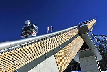 HS106 Normal Hill ski jump, Schattenbergschanze ski jumping hill, Erdinger Arena, Oberstdorf, Upper Allgaeu, Bavaria, Germany, Europe, PublicGround