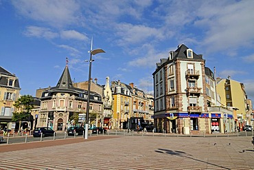 Place de l'Abattoir square, cityscape of Belfort, Franche-Comte, France, Europe, PublicGround