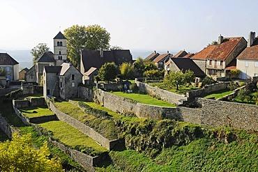 Village, community, Chateau-Chalon, Department of Jura, Franche-Comte, France, Europe, PublicGround