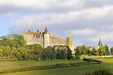 Chateau, castle, Chateauneuf, Dijon, Cote-d'Or, Bourgogne, Burgundy, France, Europe, PublicGround