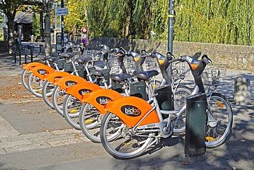 Rental bikes, Nantes, department of Loire-Atlantique, Pays de la Loire, France, Europe, PublicGround