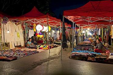Handicraft Night Market, Luang Prabang, Laos, Southeast Asia