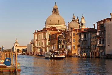 Basilica di Santa Maria della Salute Church, Votive Church, Grand Canal, Vaporetto, Venice, Italy, Europe