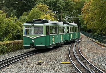 Drachenfels Cog Railway, Koenigswinter, North Rhine-Westphalia, Germany, Europe
