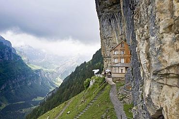 Mt. Saentis, Alpstein massif, Appenzell, Switzerland, Europe