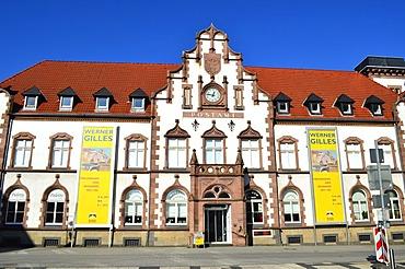 Kunstmuseum Muelheim an der Ruhr, art museum, in the Alte Post building, former postal building, listed building, Synagogenplatz square, Muelheim an der Ruhr, Ruhr Area, Germany, Europe, PublicGround
