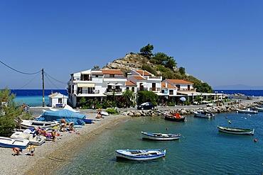 At the harbour, Kokkari, Samos Island, Aeegean Sea, southern Sporades, Greece, Europe