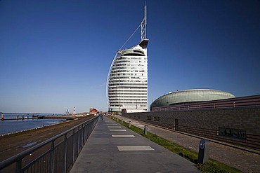 Conference Center, Sail City, Havenwelten, Bremerhaven, North Sea, Lower Saxony, Germany, Europe, PublicGround