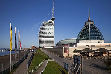 Mediterraneo shopping mall, Conference Center, Sail City, Havenwelten, Bremerhaven, Weser, North Sea, Lower Saxony, Germany, Europe, PublicGround