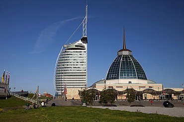 Mediterraneo shopping mall, Conference Center, Sail City, Havenwelten, Bremerhaven, Lower Saxony, Germany, Europe, PublicGround