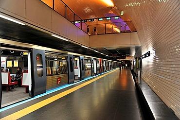 Metro station Baixa - Chiado, Lisbon, Lisboa, Portugal, Europe