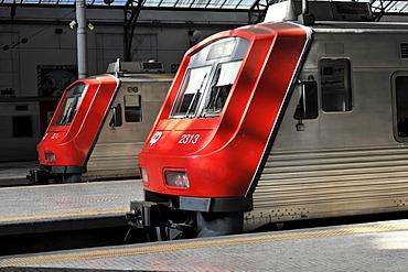 Trains to Sintra, Estacao Rossio, Rossio Station, Lisbon, Lisboa, Portugal, Europe